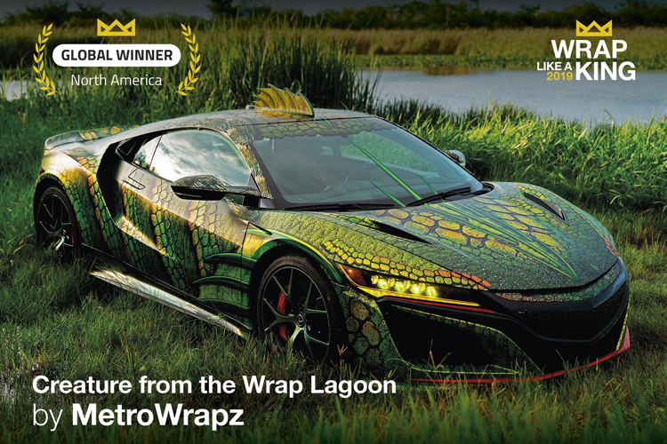 MetroWrapz wins 'King of the Wrap World' crown for second year, in the Avery Dennison 2019 'Wrap Like a King™' challenge