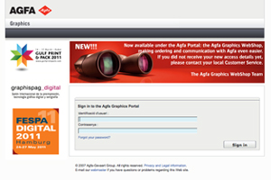 Nuevo Agfa Graphics WebShop