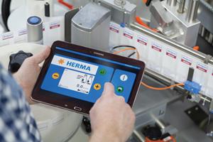 Una práctica aplicación para las etiquetadoras HERMA 400