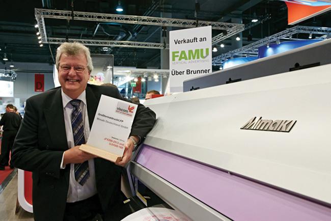 """Viscom premia dos impresoras de Mimaki en sus galardones """"Best of 2014 Award"""""""