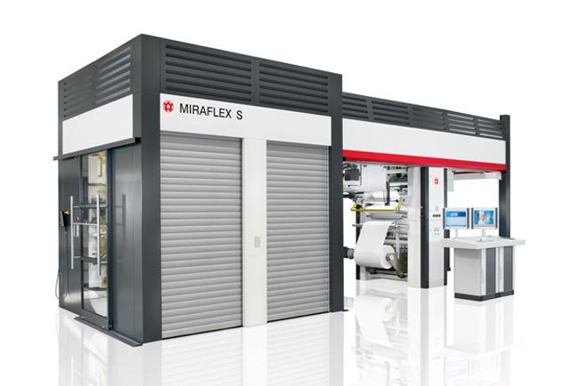 MIRAFLEX S, la nueva máquina de impresión flexográfica de tambor central de alta gama ideal para tiradas cortas