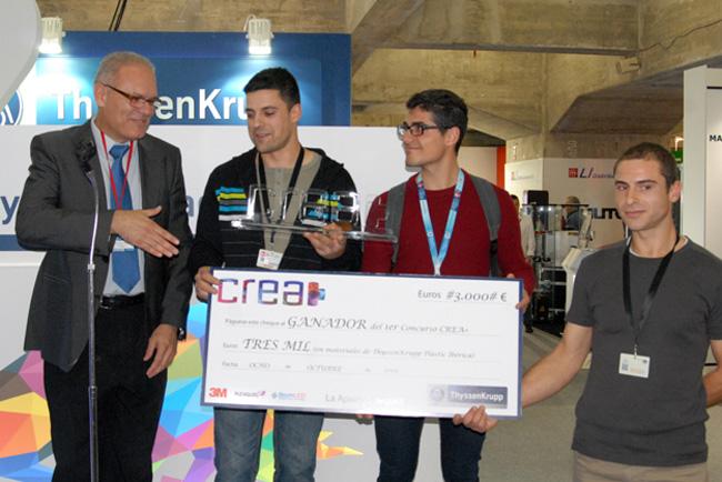 Rótulos Irar ganadores del primer concurso CREA+ organizado por ThyssenKrupp