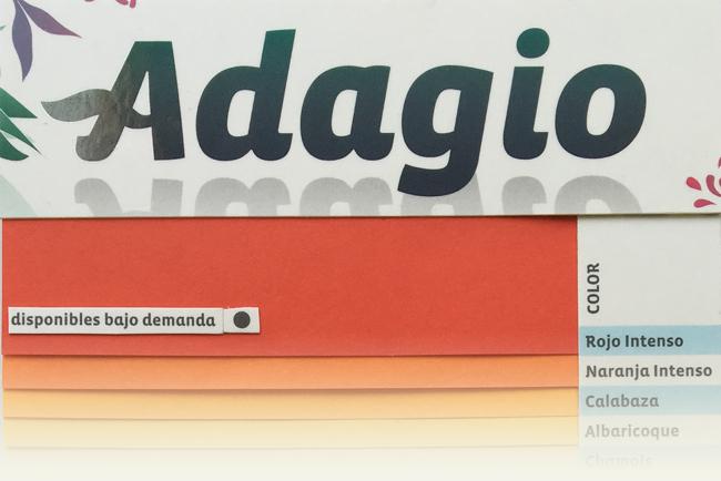 ADAGIO, la gama de papeles de colores amiga del medio ambiente