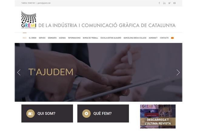 El Gremi de la Indústria i la ComunicacióGràfica de Catalunya estrena página web