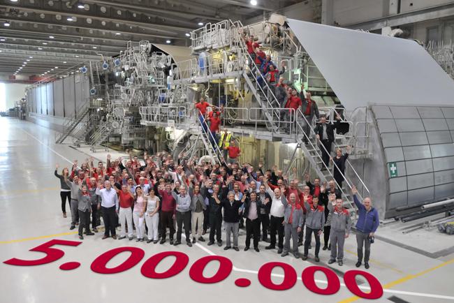 Stora Enso Langerbrugge alcanzó un hito de 5 millones de toneladas de papel de periódico producido