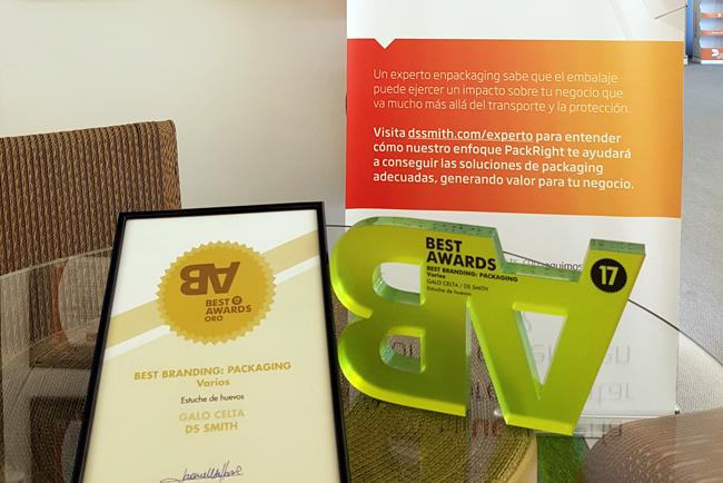 DS Smith galardonado con el máximo reconocimiento en la categoría de Packaging de los premios Best Awards 2017