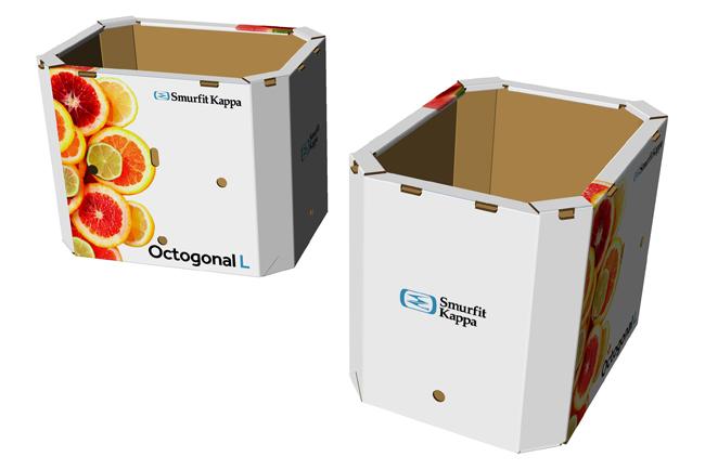 Box Octogonal L, la nueva solución de Smurfit Kappa para la exportación de frutas y verduras a granel