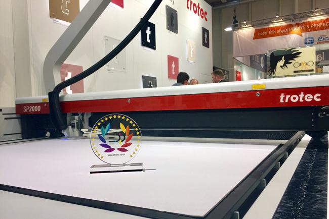 Trotec obtiene dos premios EDP en Fespa 2017