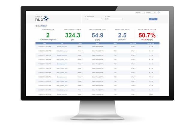 El software ONYX Hub acerca la inteligencia empresarial al gran formato