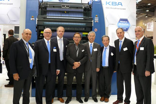 Sun Chemical and KBA-MetalPrint treading new paths together