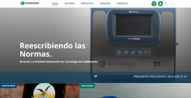 Domino presenta su nueva web