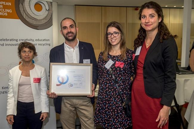 ITENE logra un reconocimiento en los premios europeos de reciclaje de papel