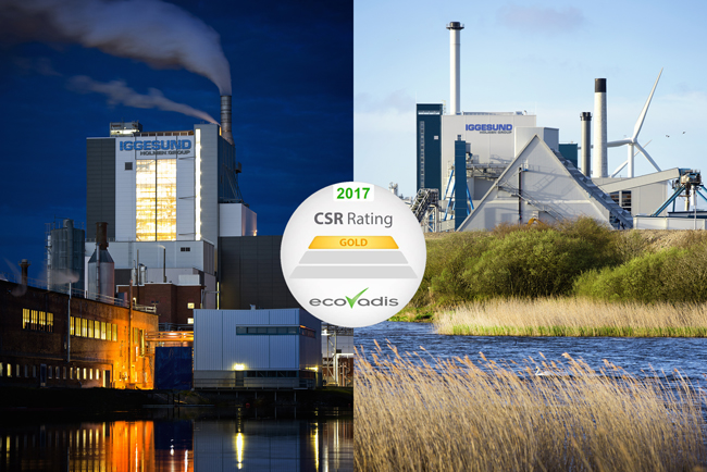 Iggesund's mills receives the highest sustainability rating from EcoVadis