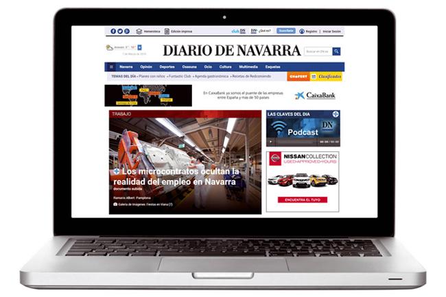 Diario de Navarra renueva su publicación interactiva de pago DN+ para Tablets gracias a la tecnología de Protecmedia
