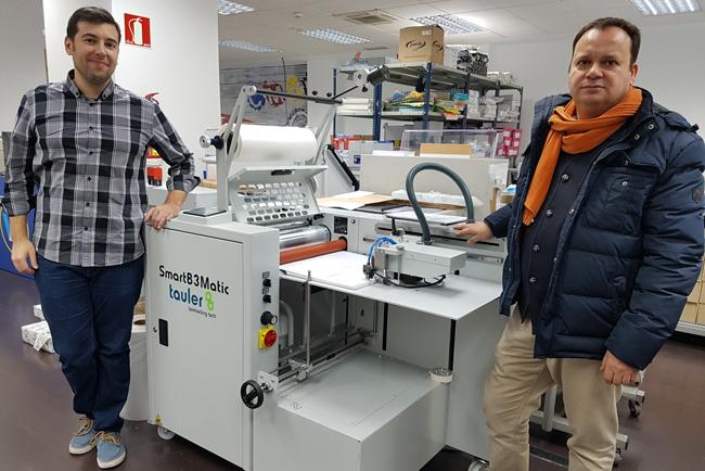 La laminadora SmartB3 Matic de Tauler llega a Workcenter, la mayor cadena de servicios de impresión del país