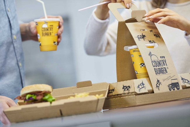 Mondi crea un envase único para una cadena de comida rápida de la República Checa