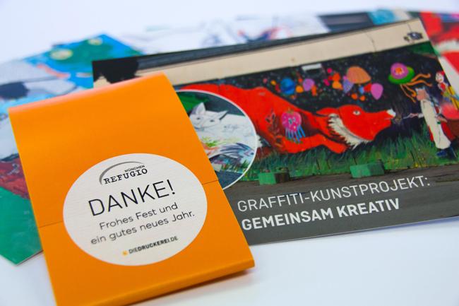 Con el arte contra los traumas de los desplazados, Onlineprinters apoya al proyecto de grafitis «on the road»