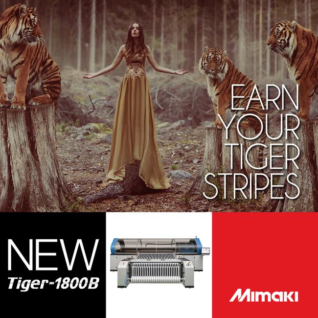 La impresora textil industrial Mimaki Tiger-1800B eleva el listón