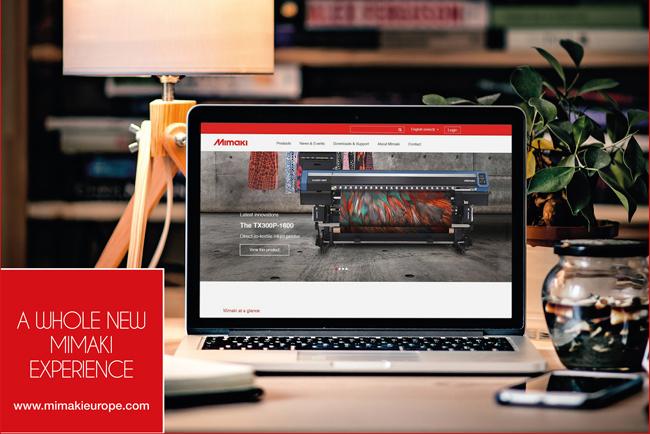 Mimaki lanza nueva web con especial atención a las aplicaciones