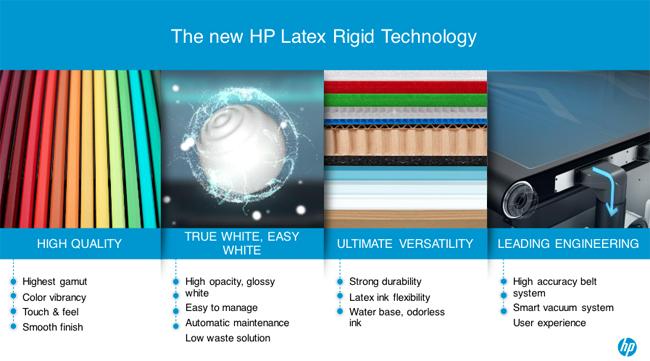 HP anuncia su nueva tecnología HP Latex para impresión rígida