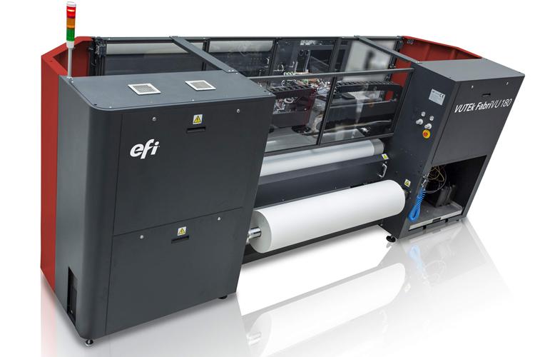 EFI sube el listón con su nueva impresora de rótulos textiles VUTEk FabriVU con sublimación integrada