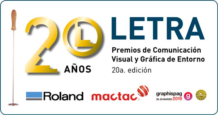 Los LETRA, premios pioneros y de referencia en España para el mercado de la comunicación visual, celebran su 20 aniversario