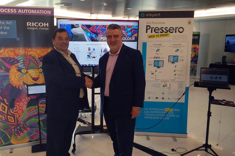 Aleyant y Ricoh firman un acuerdo de distribución para comercializar el sistema web-to-print Pressero
