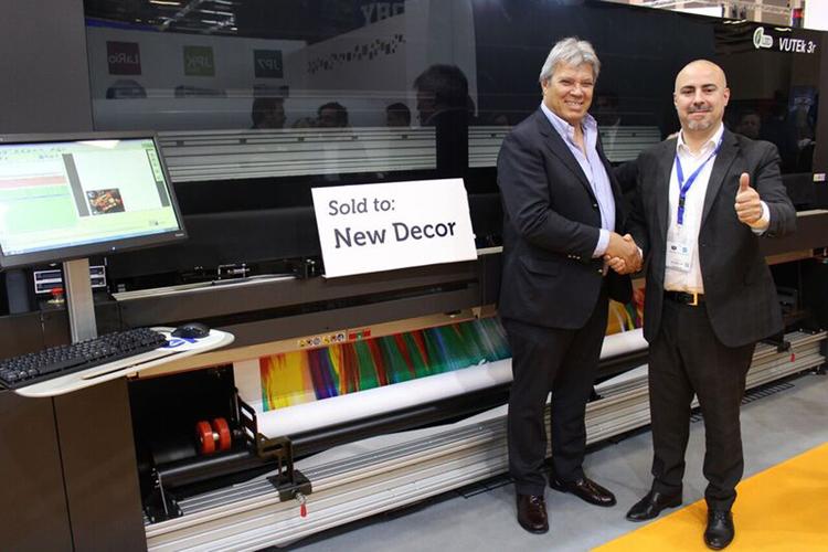 New Decor System adquiere una impresora continua EFI VUTEk de 5 m y curado por leds