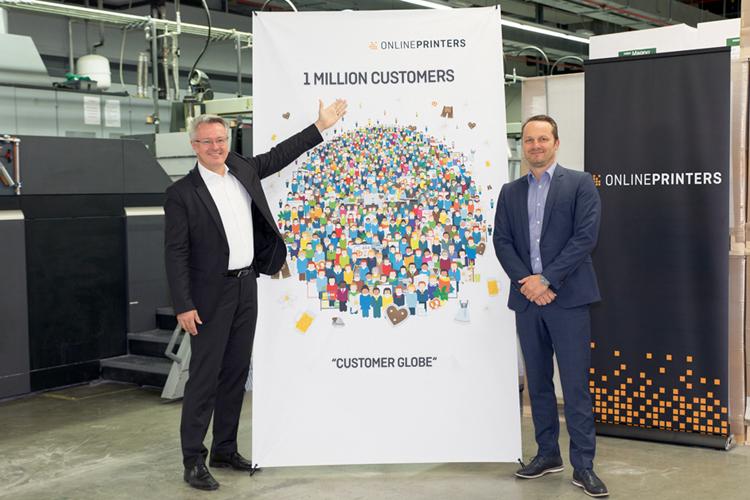 Un millón de clientes, sigue creciendo el negocio internacional de Onlineprinters