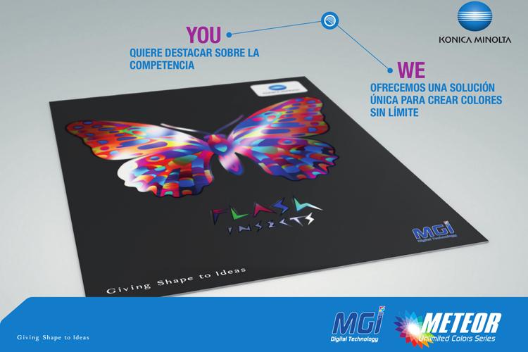 MGI METEOR Unlimited Colors combina motor de impresión y una solución de estampación de alta gama