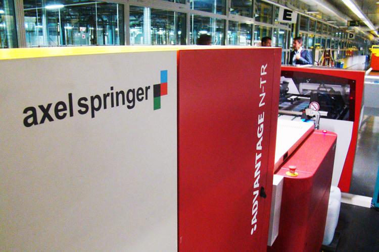 Axel Springer instala las nuevas soluciones de impresión de periódicos de Agfa Graphics en su sede de Berlín