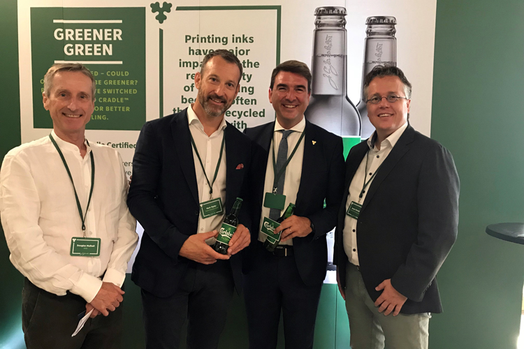 Carlsberg chose the global ink manufacturer hubergroup as main supplier for their beer labels