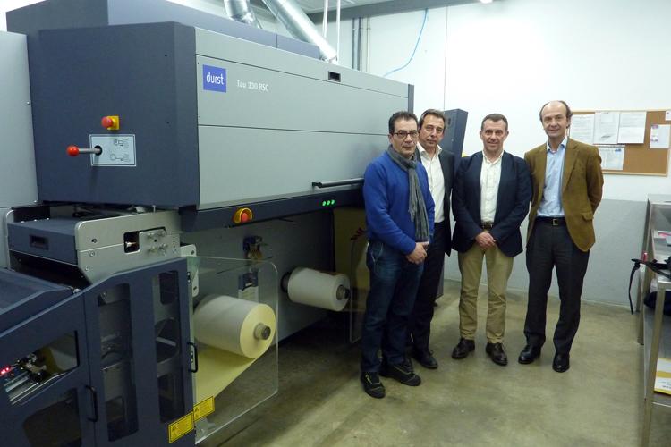 El Grupo Printeos instala una de las primeras Tau 330 RSC en la planta de Adhesivos del Segura