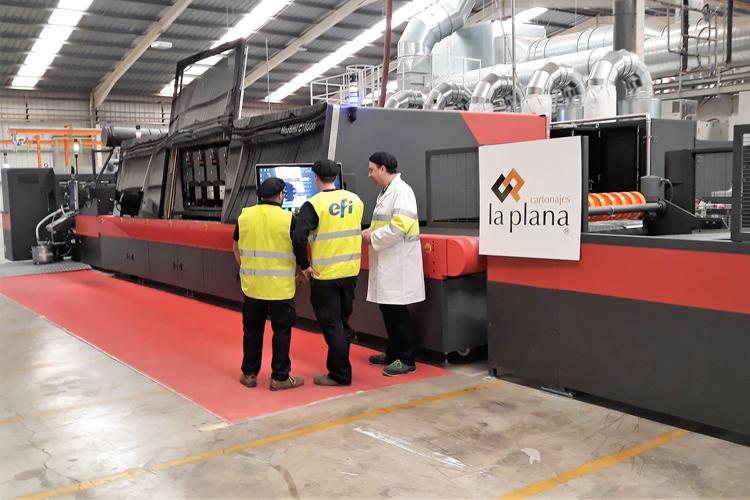 Cartonajes La Plana aumenta en creatividad, versatilidad y sostenibilidad gracias a su nueva impresora de cartón ondulado single-pass EFI™ Nozomi