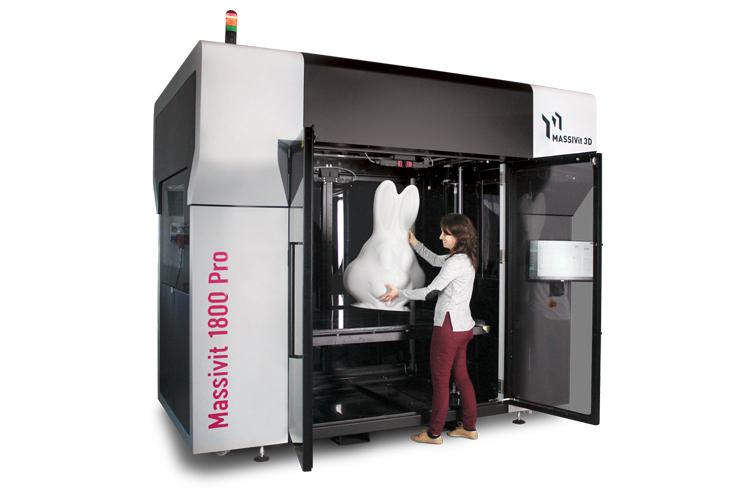 Massivit 3D presenta la nueva y versátil impresora 3D Massivit 1800 Pro