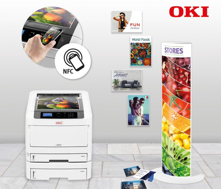 OKI lanza la nueva Serie C800 de impresoras de color A3 ultra-compactas