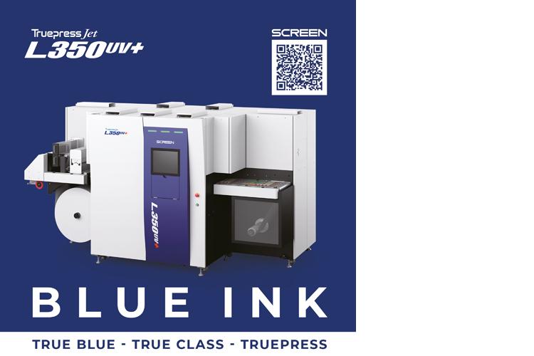 SCREEN dessarrolla tinta azul para la TRUEPRESS JET L350UV+