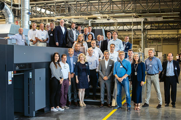 Visita a la sede de Heidelberg del Grupo de Fabricantes de Envases Plegables de ASPACK