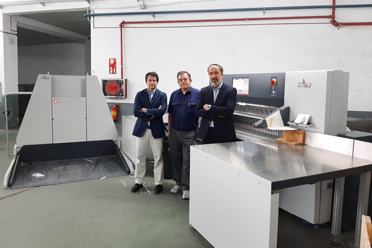 Encuadernación Huertas adquiere un sistema Polar 120 con guillotina N 176 Plus