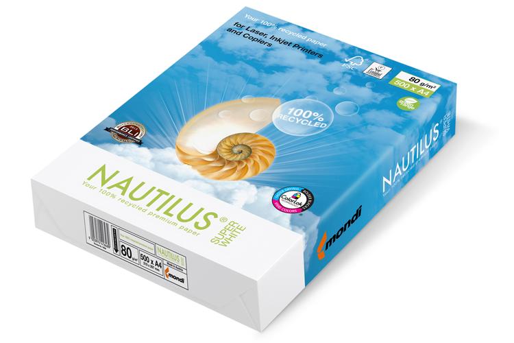 Mondi llena un vacío en el mercado del papel reciclado extendiendo la gama de su marca NAUTILUS®