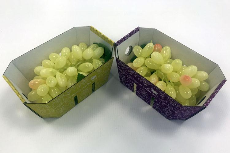 Smurfit Kappa desarrolla para un cliente una solución sostenible y biodegradable de cartón ondulado para uvas
