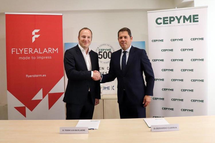 FLYERALARM y CEPYME ofrecerán asesoramiento en áreas de marketing a las pymes